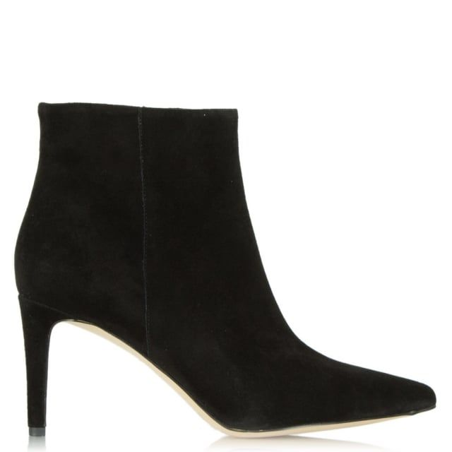 awesome Sam Edelman Karen Black Suede Pointed Toe Ankle Boot