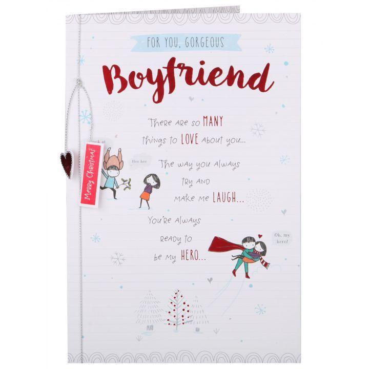 Oodles Of Doodles My Hero Boyfriend Christmas Card Boyfriend Christmas Card Christmas Cards Cards