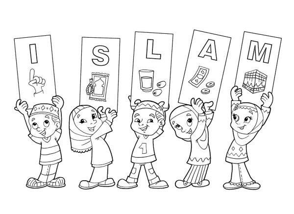 Baru 30 Gambar Mewarnai Kartun Muslim Di 2020 Halaman Mewarnai