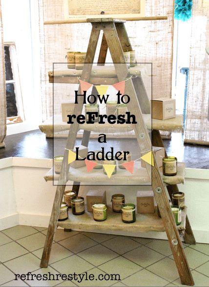 How to make a ladder shelf.