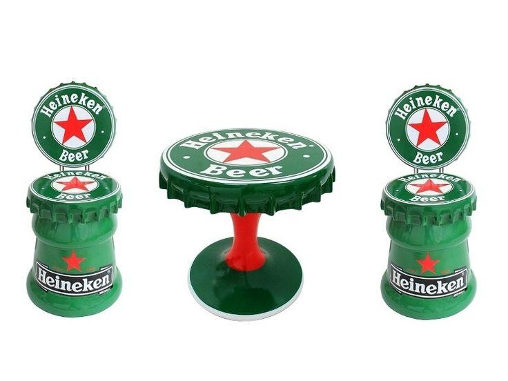 JBTH461 - Large Heineken Beer Bottle Top Table & 2 Heniken Beer Bottle Top Chairs - JBTH461 - Large Heineken Beer Bottle Top Table & 2 Heniken Beer Bottle Top Chairs.jpg