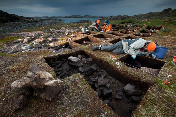 Excavation of a possible new viking site in Newfoundland. (Point Rosee).