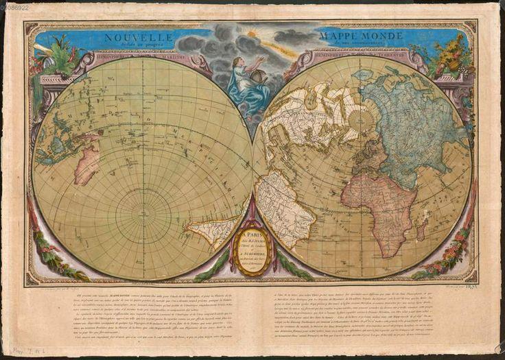 Nouvelle Mappe Monde, Paris 1753, Bayerische Staatsbibliothek München