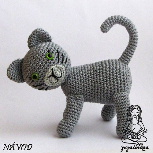 Návod - Kočička (hračka)Amy Stuff, Crochet Fun, Crochet Toys, Crochet Animal, Gatos Amigurumi, Crochet Amigurumi, Crochet Pets, Kočička Hračka
