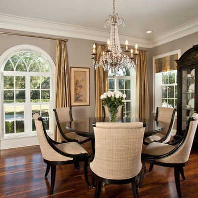 Different window treatments in same room, but works    Traditional Window Treatments Design, Pictures, Remodel, Decor and Ideas - page 18