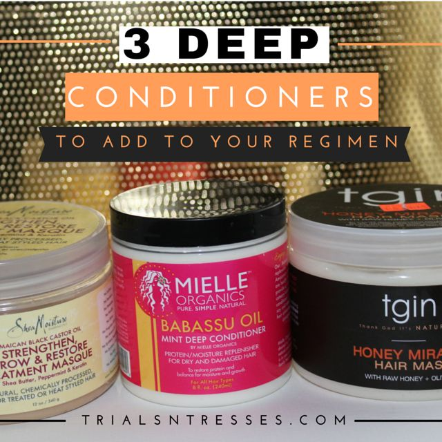 Our natural hair has several different needs so here are three Deep conditioners to add to your regimen for your different hair care needs.