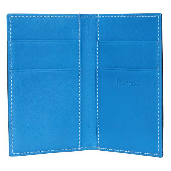 Porte-cartes Hurbane - cuir bleu