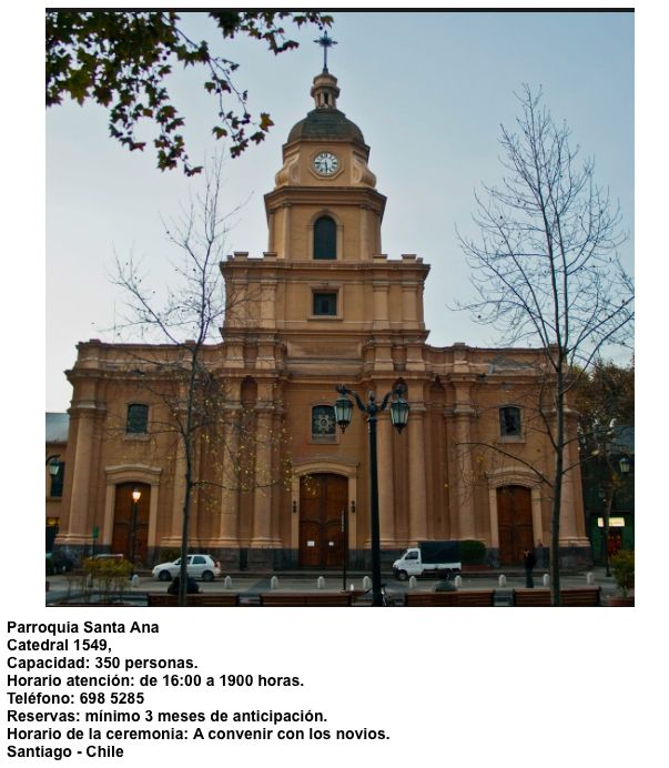 Parroquia Santa Ana   Catedral 1549   Santiago - Chile