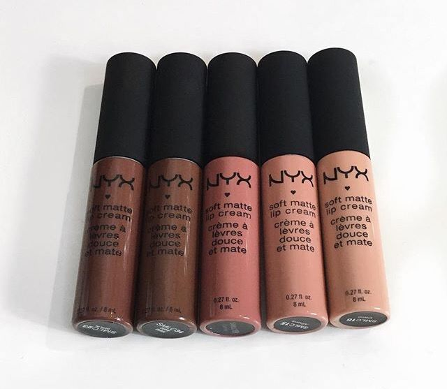 nyx soft matte lip cream. abu dhabi is my favorite matte nude.