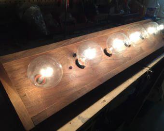 4 bulb barnwood Rustic vanity light
