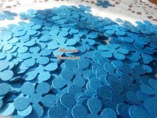 Confetti flori albastre