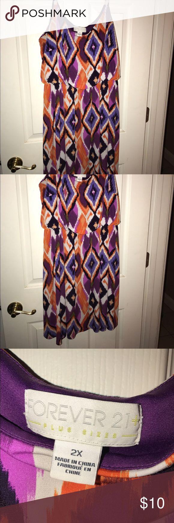 Short Maxi Dress Bright colorful short maxi dress Forever 21 Dresses Mini