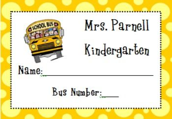 These bus rider tags are editable and print to Avery 5395 labels. There is 8…