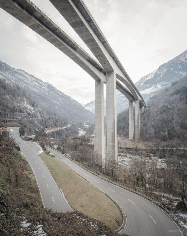 "from Fabio Compagno's ""Infrastructure in Ticino"" | forms, terrain"