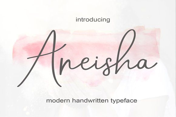 Aneisha Script by MrLetters on @creativemarket