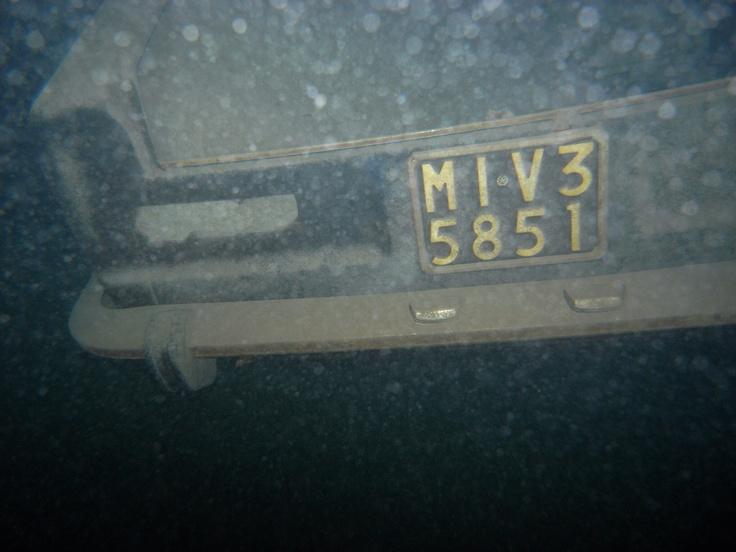 Parcheggio subacqueo nel Lago D'Iseo