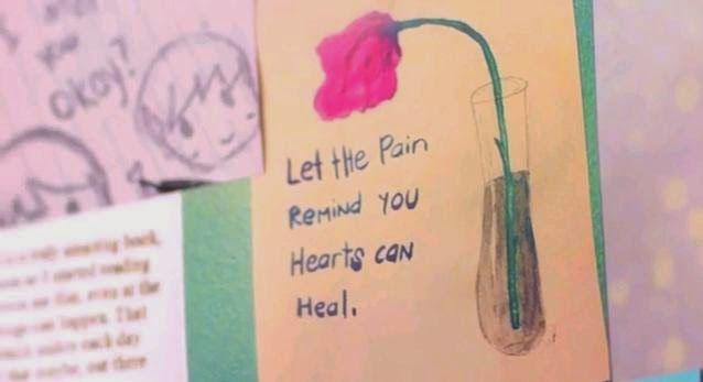 """Então vamos à relação: parte da letra de """"Hate To See Your Heart Break"""", do álbum auto-intitulado, aparece no vídeo da música, durante um dos muitos momentos em que cartas e recados aparecem no clipe. A canção foi escrita por Hayley, e fala sobre Taylor York. """"Permita que a dor te lembre que seu coração pode se curar."""""""