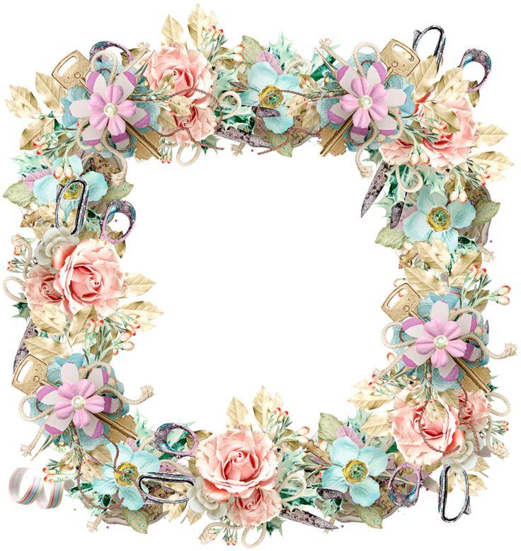 60 best Floral Frame images on Pinterest | Picture frame, Frames and ...