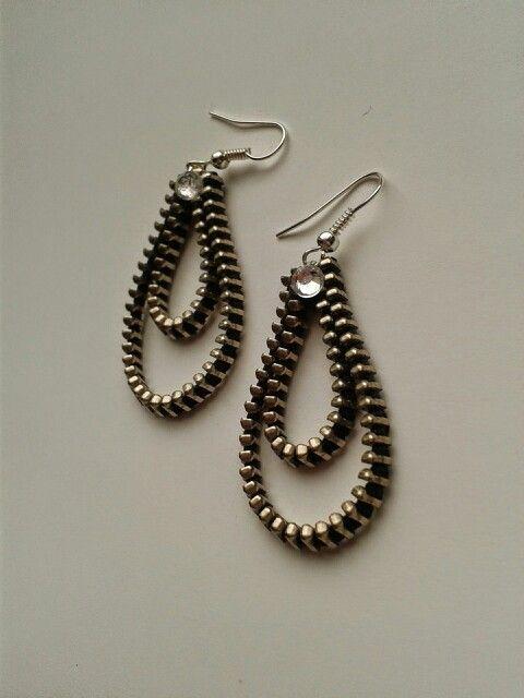 Kolczyki z zamka.             Zipper earrings