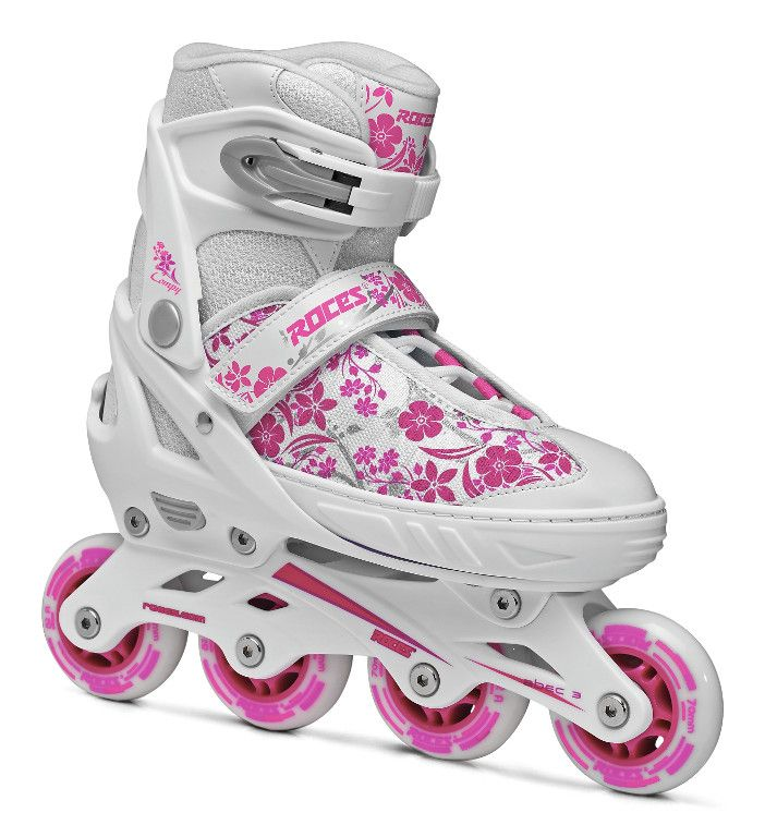 The new adjustable inline skate COMPY 8.0 GIRL. Perfect for every little skater!  #havefun  http://shop.roces.com/en/skates/skates-for-kids/adjustable-inline-skate-for-kids-mod-compy-8-0-girl.html