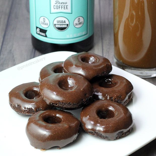 Prot: 18g, Carbs: 9g, Fat: 2g, Cal: 126 (3 donuts)       Donuts for breakfast? Yes, please! These Iced Mocha Protein Donuts are made with cold brew coffee concentrate to give you a boost of flavor and caffeine! And no, you don't have to make your own cold brew. Get