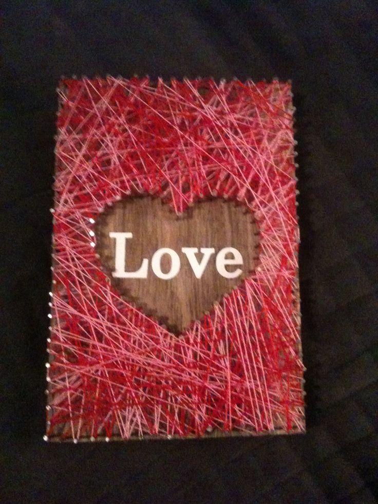 Love - string art