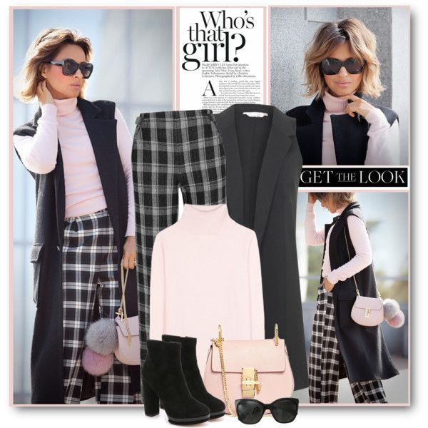 Plaid Pants & Sleeveless Coat by brendariley-1 on Polyvore featuring polyvore, fashion, style, Jardin des Orangers, Miss Selfridge, Proenza Schouler, Dolce Vita, Chloé and Chanel
