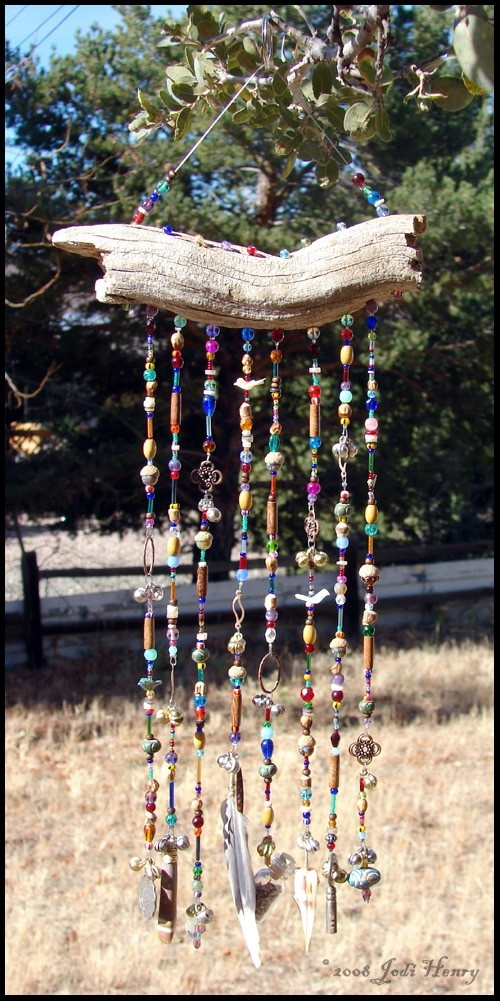 Driftwood Windchime and Suncatcher