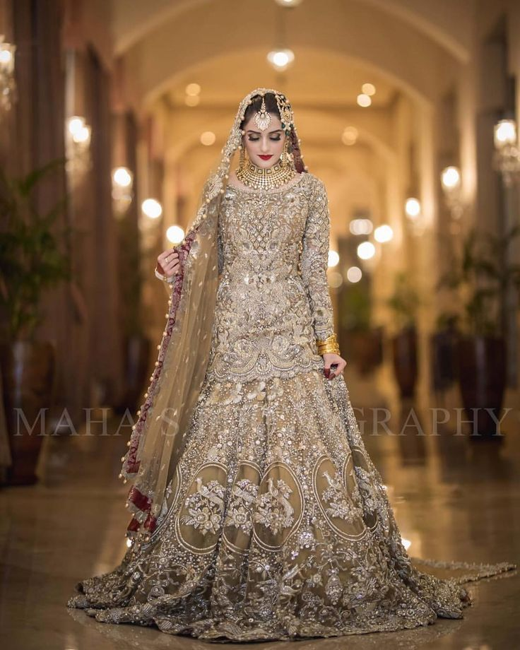 Asian Pakistani Indian Bridal dress tailormade in UK and Europe wedding inspiration www.mizznoor.co.uk