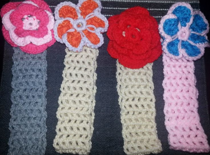 Crochet hairbands.