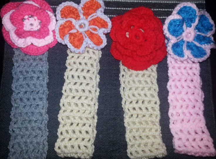Crochet hairbands.