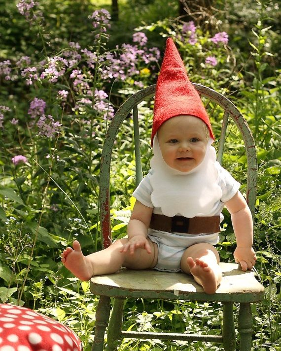 Gnome hat and beard toddler/child costume by littlebeanart on Etsy