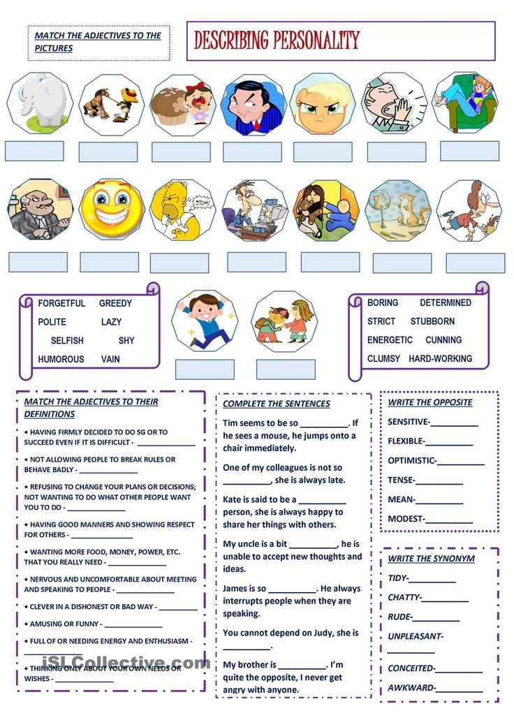 Personality adjectives worksheet - Free ESL printable worksheets ...