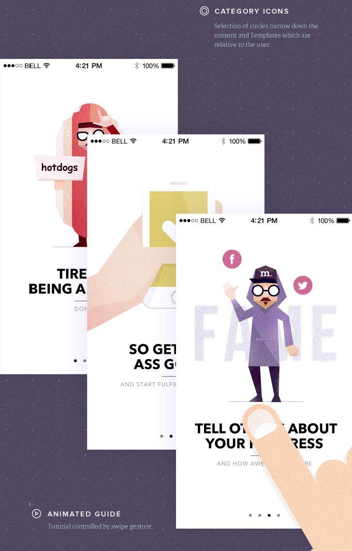 Animated pop card #mobileUI #design