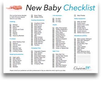 Newborn Baby Lists