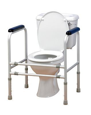Homecraft Adjustable Aluminium Toilet Surround 284 Advantage card points. This adjustable width aluminium toilet surround is designed for those who have difficulty in standing up from a low seated position. FREE Delivery on orders over 45 GBP. http://www.MightGet.com/february-2017-1/homecraft-adjustable-aluminium-toilet-surround.asp