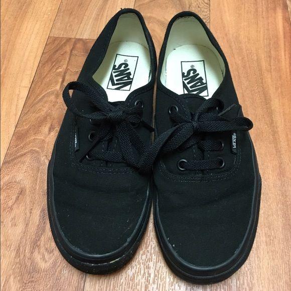 All Black Vans All black Vans, women's size 6 men's size 4.5, only worn a few times. Vans Shoes Sneakers