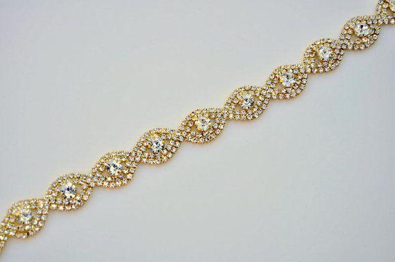 Gouden Strass BridalTrim, gouden Strass trim, gouden Strass ketting, cup keten trim hoofdband leveren DIY accessoires door de voet R20251Y