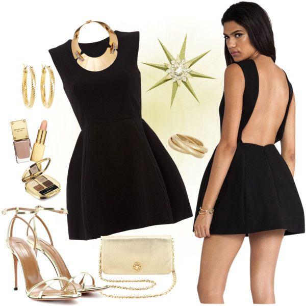 Little Black Dress... In Gold