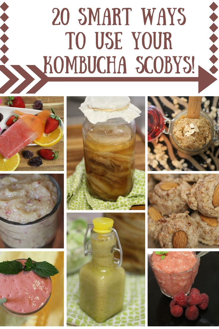 FINALLY! A plethora of ways to use up that growing pile of Kombucha Scobys! From dressings, to smoothies, to popsicles to body scrubs! ~Cultured Food Life