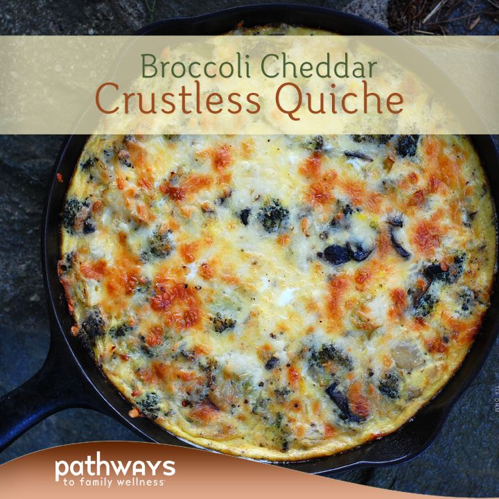Looking for an easy dinner the kids will love? Want to use up some of those local veggies you have in the fridge? Check out this tasty broccoli cheddar crustless quiche recipe we have posted on our blog.