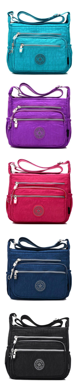 US$14.99 Women Multicolor Nylon Crossbody Bag Floral Shoulder Bag Outdoor Travel Bag