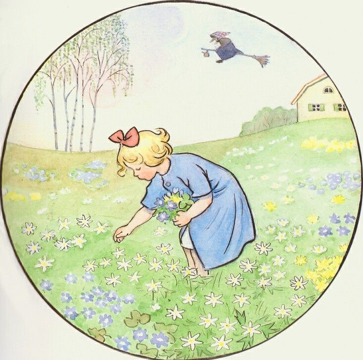Elsa Beskow -Easter Witch