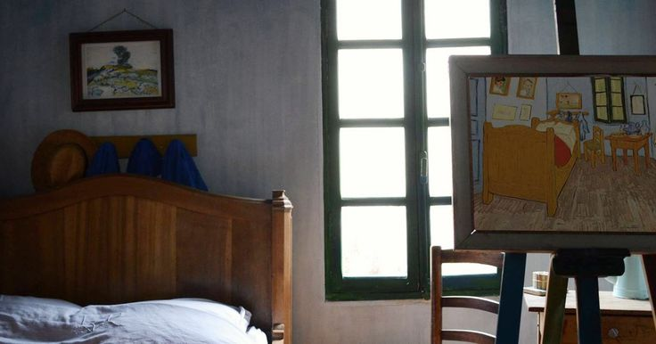 Write a letter to Vincent van Gogh and stay in his 'Bedroom in Arles'