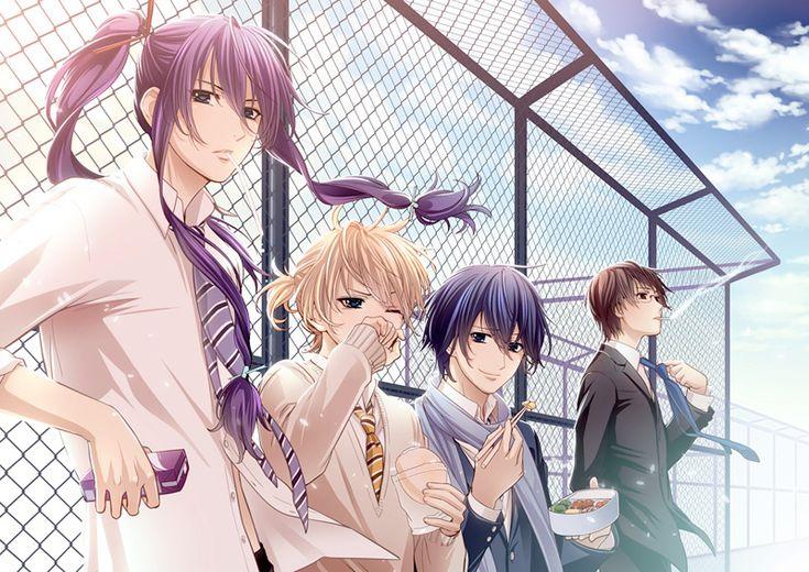 Vocaloid From Left to Right: Kamui Gakupo, Kagamine Len, KAITO and Hiyama Kiyoteru.