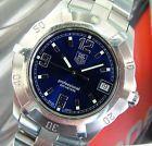 MeN's TAG HeUeR AquaRacer EXCLUSIVE 2000 EleCtRiC BLUE~SapPhiRe+SS LINK Bracelet