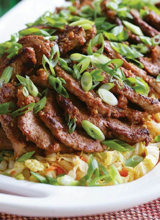 Low FODMAP Recipe and Gluten Free Recipe - Chinese-style pork fillet with fried rice