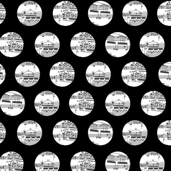 Modern Sheet Music Quilt Fabric 1 Yard The Music by SewcialStudio