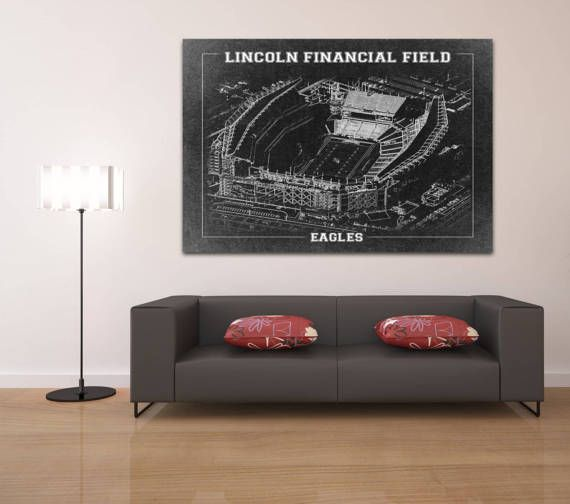 Print of Vintage Lincoln Financial Field Seating by ClavinInc
