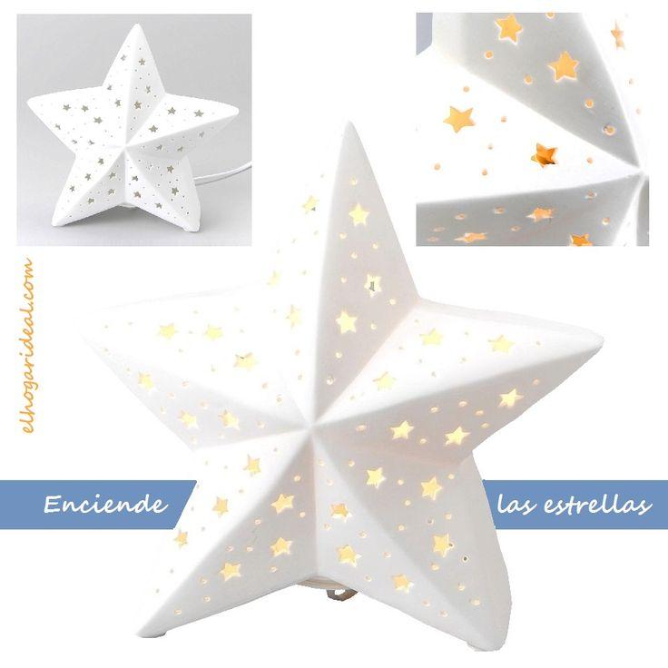 ¿Quieres tener a mano las estrellas? Prueba con esta original lámpara, perfecta para aportar un punto de luz indirecto de un modo sutil. http://elhogarideal.com/es/iluminacion/465-lampara-estrella-.html#.VkUM7fkve1s